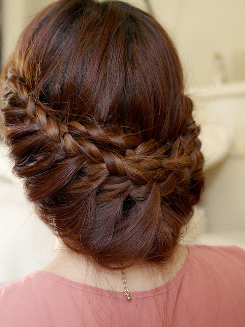 Princess braided updo