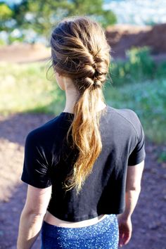 Casual french braid updo hairstyle