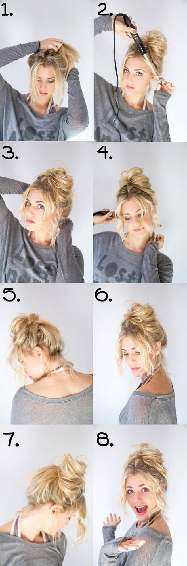 Upper bun with side part