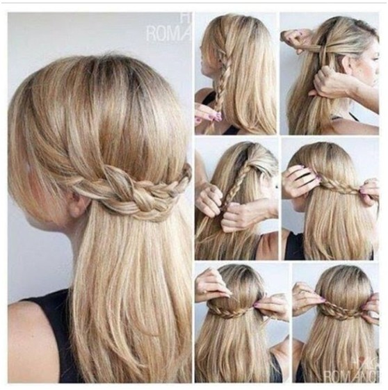 Quick half up braid hairstyle tutorial