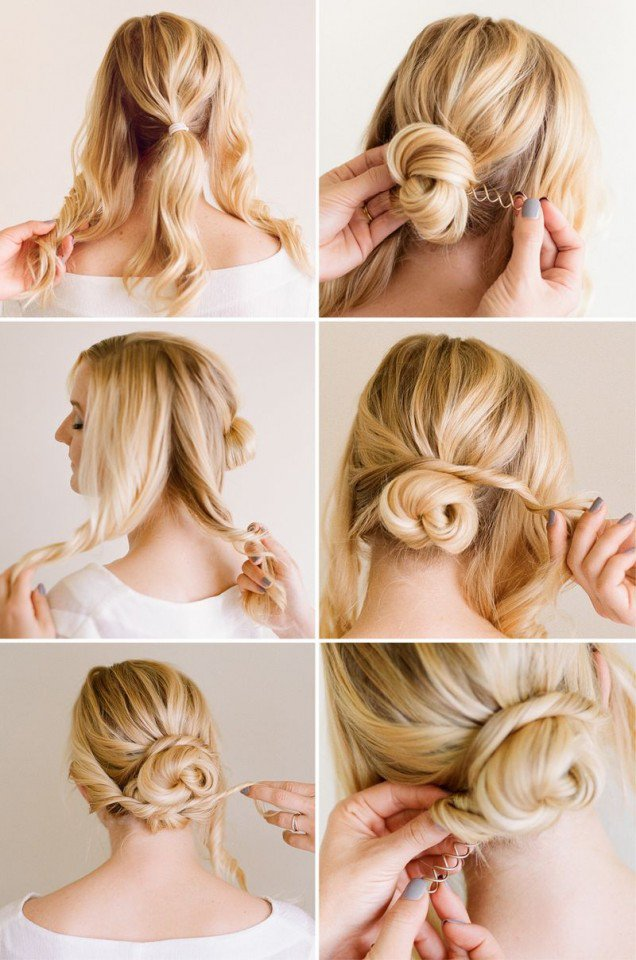 Simple hairstyle tutorial for work