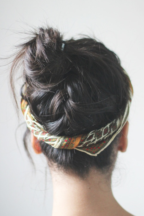 Black braided bun