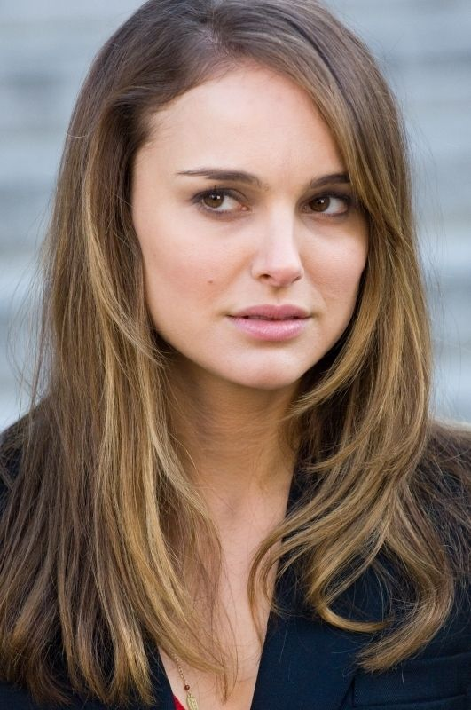 Long straight Natalie Portman hairstyle