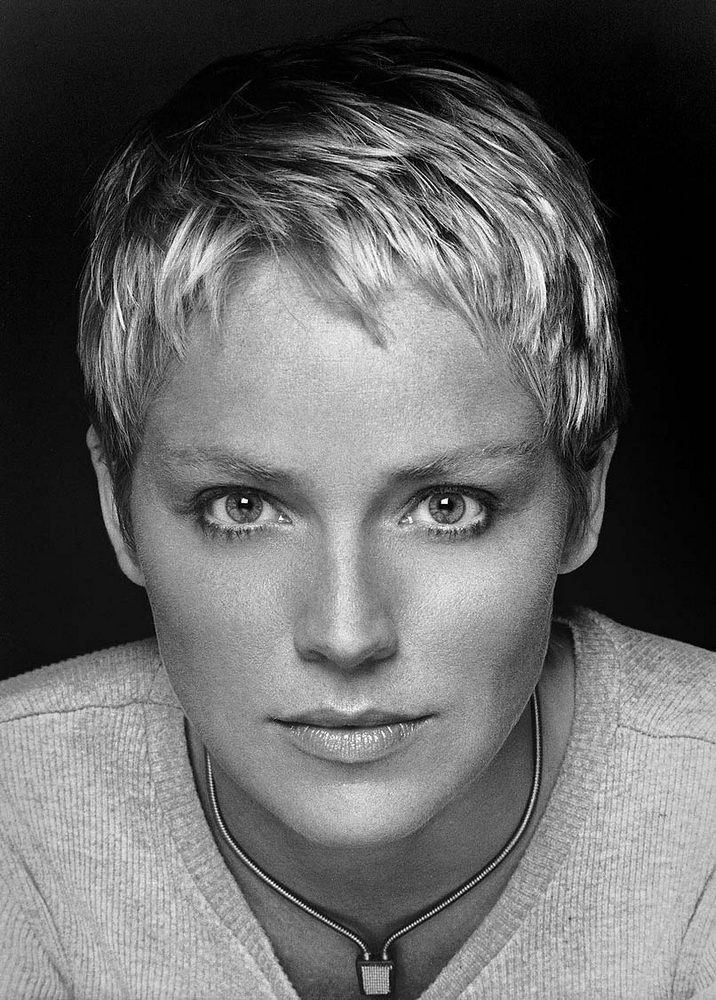 Sharon Stone Very short hairstyle