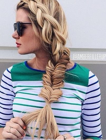 Stunning fishtail braid hairstyle