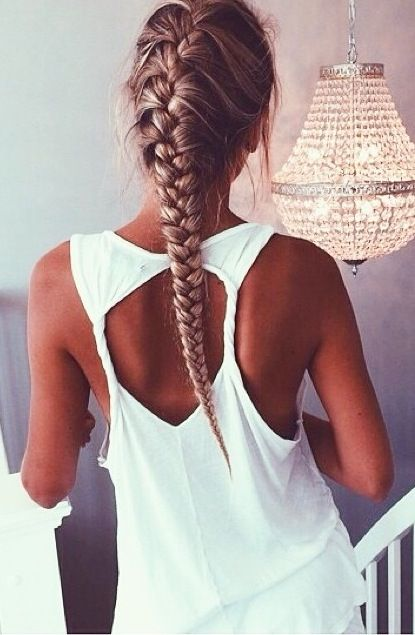 Stylish French braid hairstyle