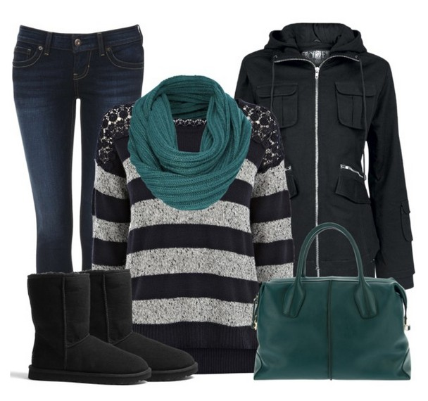 Warm and cozy outfit combinations for winter, striped sweaters, jeans and black boots Warm and cozy outfit combinations for winter, striped sweaters, jeans and black boots