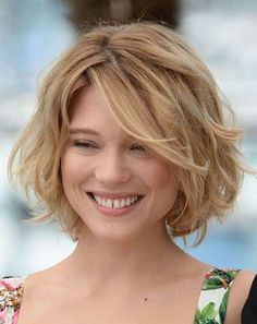 Nice short wavy hairstyle
