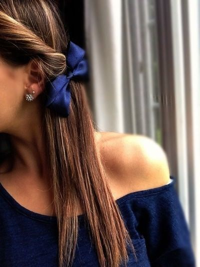 Twisted straight hairstyle