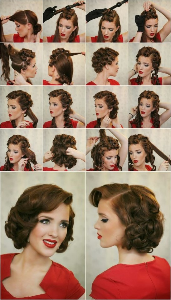 Vintage curly hairstyle