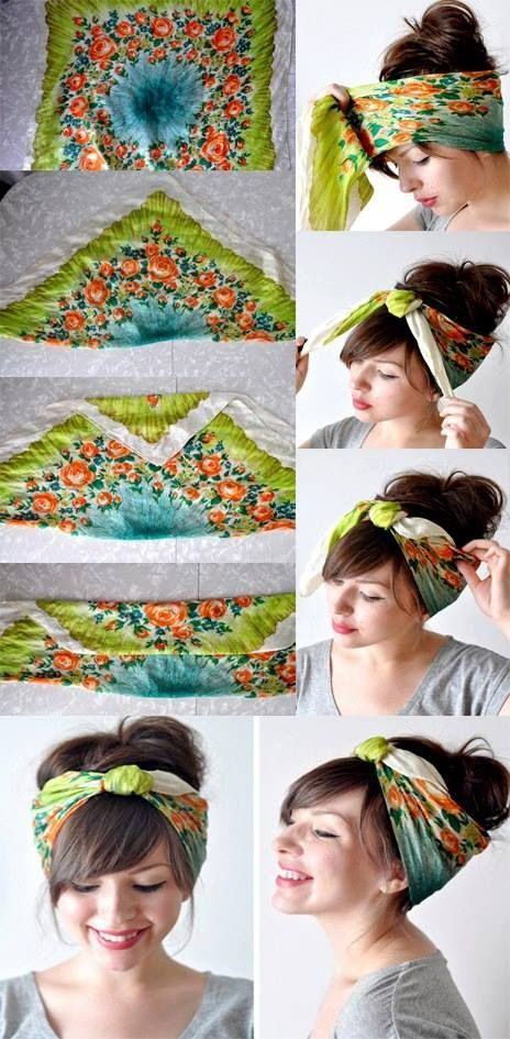 Beehive hair with a headscarf