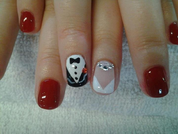 Funny wedding nails