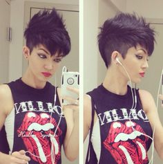 Short punk hairstyle