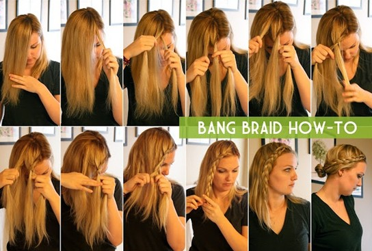 15 Braided bangs tutorial: Bang Braid Guide