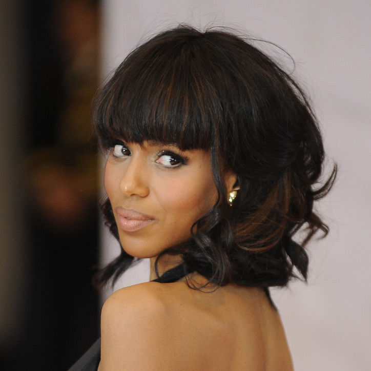 Kerry Washington's chin-length curls