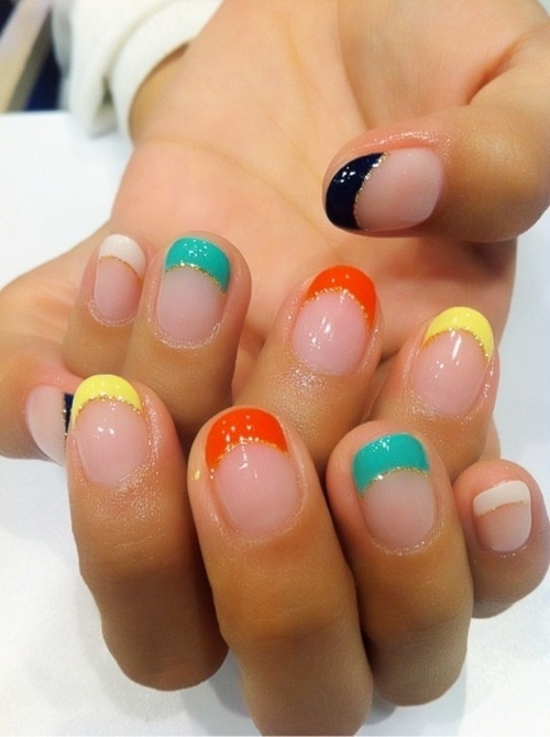 Simple colored nails