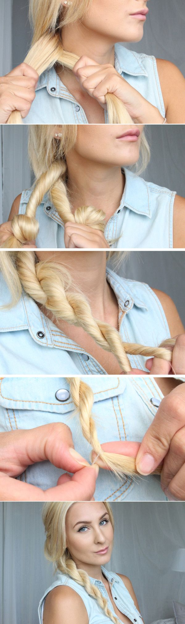 Twist ponytail hairstyle tutorial