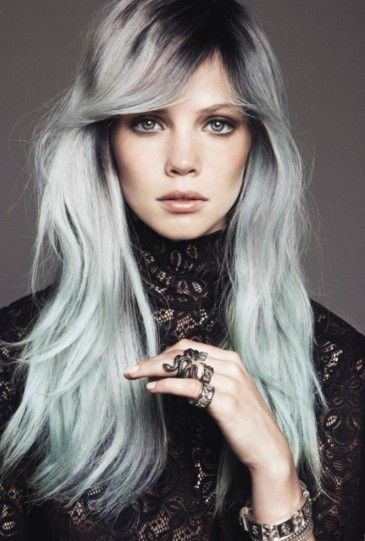 Colored hairstyle for long hair