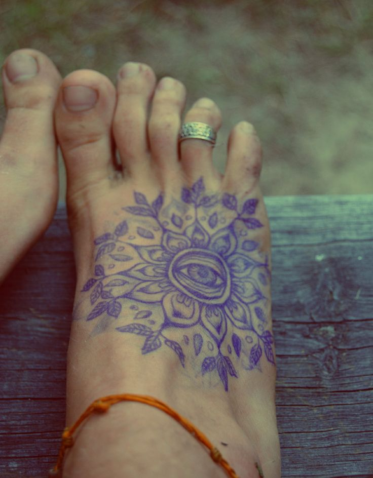 Plant foot tattoo