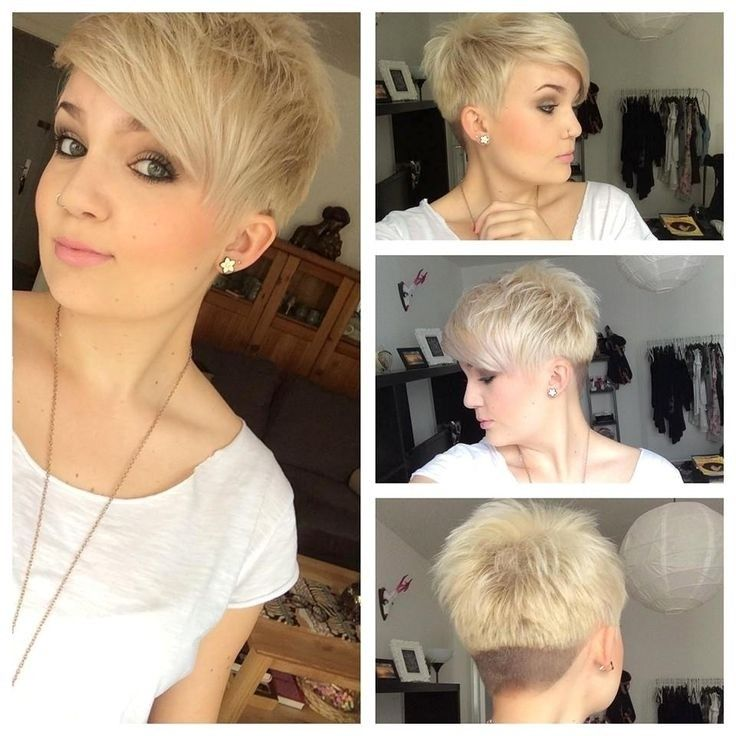 Short, pointy hair with side bangs