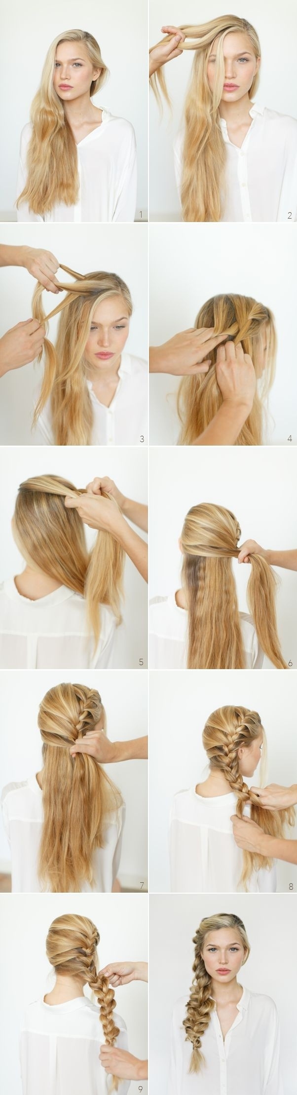 Messy Side Braided Ponytail Hairstyle Tutorial