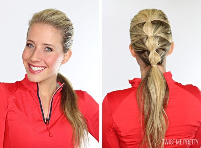 Sweet ponytail hairstyle for summer