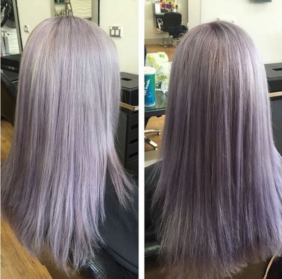 Long straight hairstyle with layers