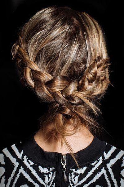 Unique French braid look