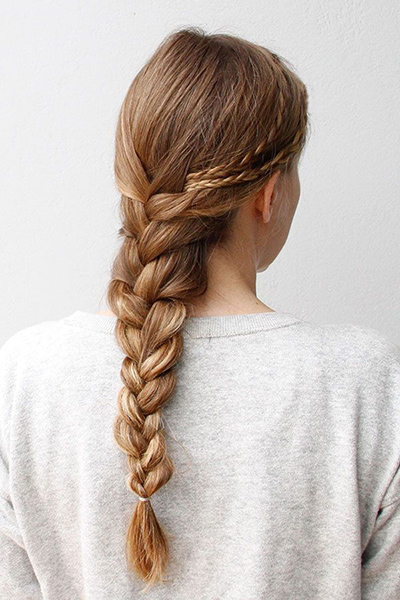 Hidden French braid