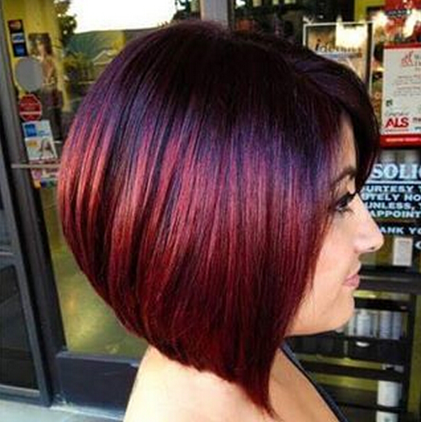 Short bob haircut for red hair