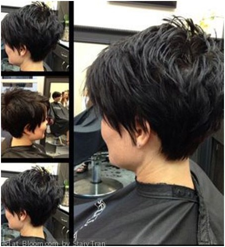 Chic pixie haircut for thick hair