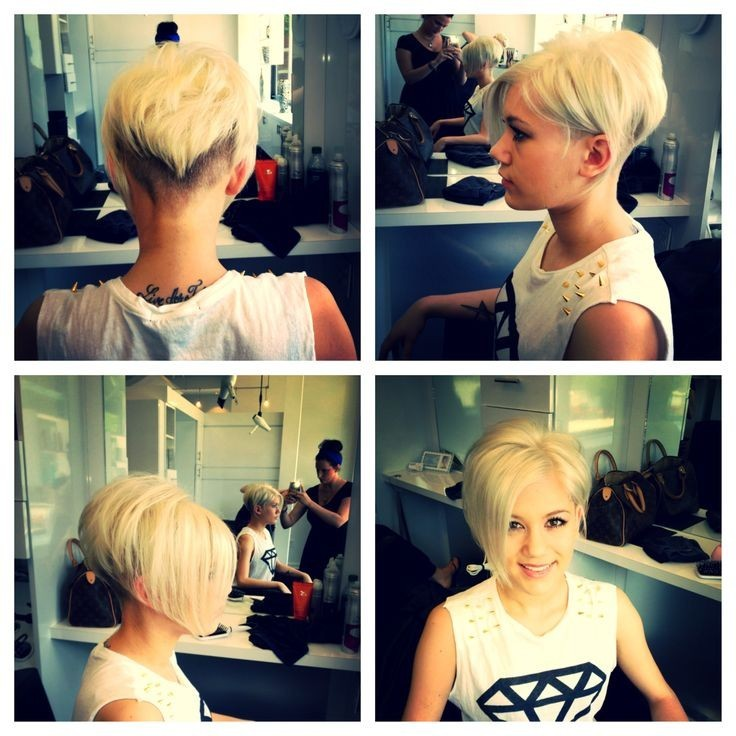 Short bob haircut for blonde hair
