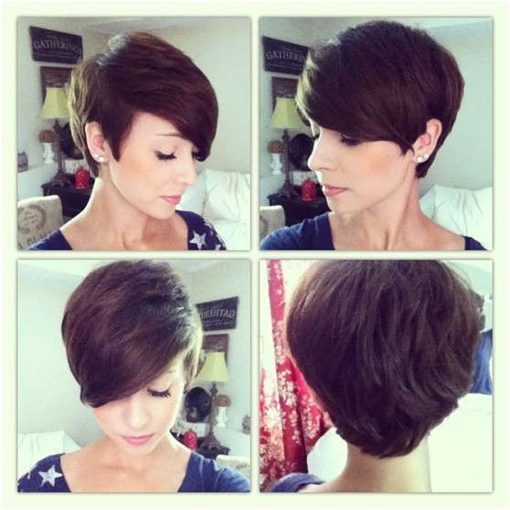 Short hairstyle with side bangs