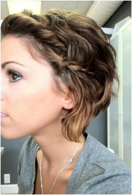 Nice short hairstyle with braids