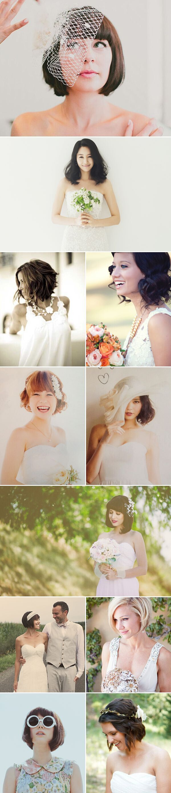 Short bob hairstyles for the wedding