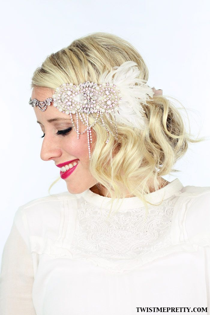 Short curly bob for wedding hairstyles