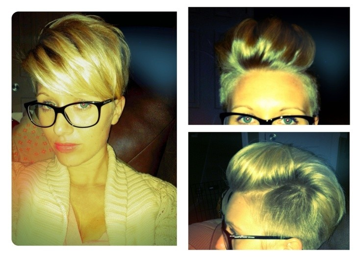 Cool short pixie hairstyle with undercut