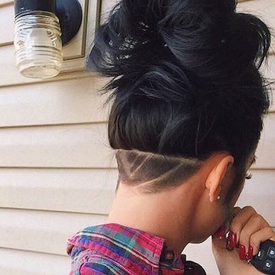 Undercut high bun