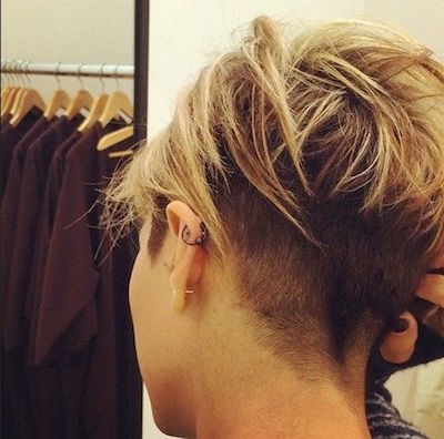 Undercut layered hair