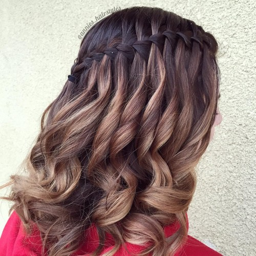 Black and brown hairstyle
