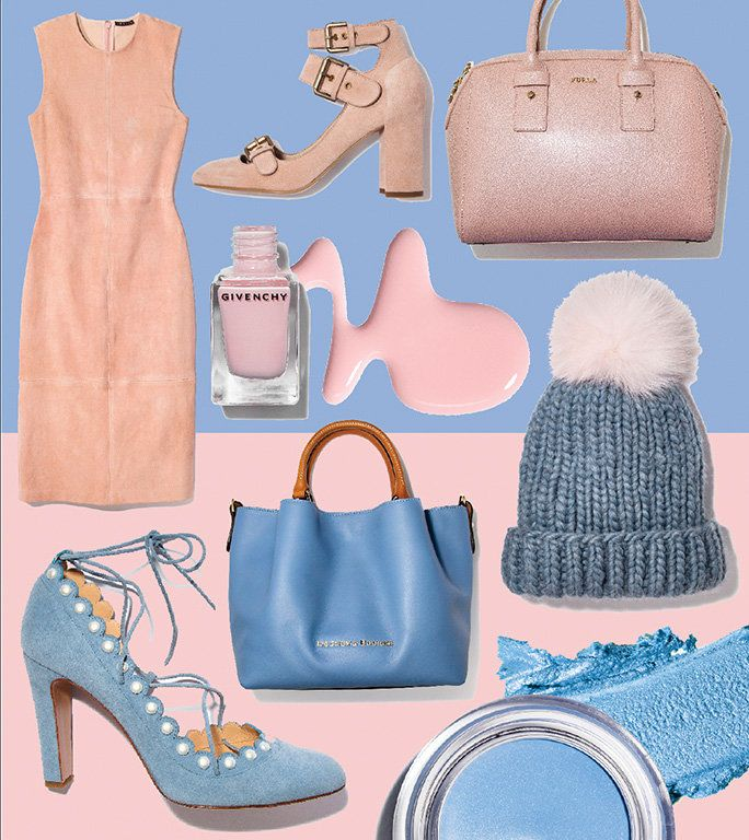 Serenity and rose quartz outfit