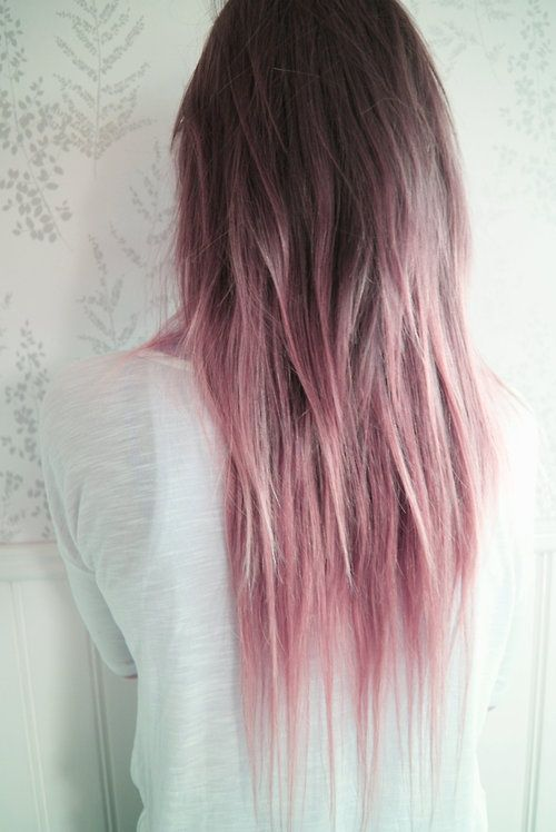 Pastel pink hair color idea
