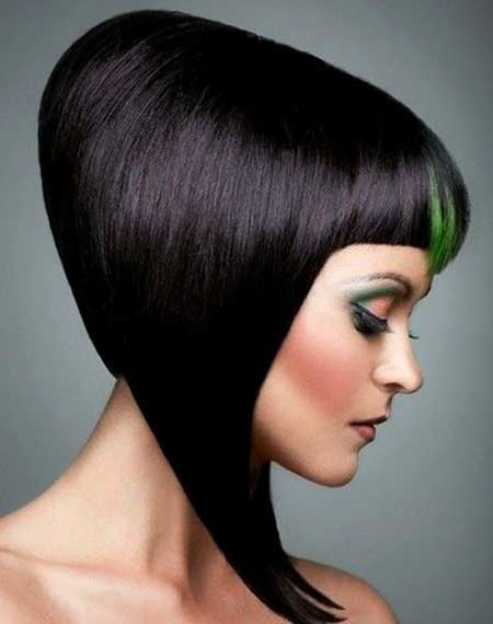 Hair color highlighted in green