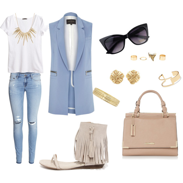 Serenity vest and ripped jeans
