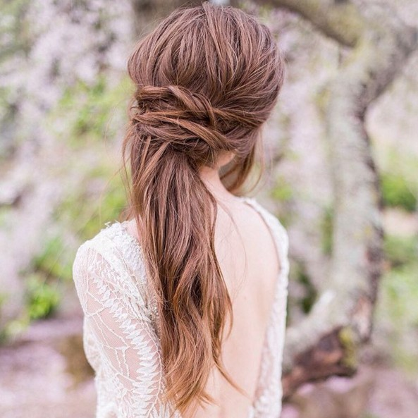 Half Up Half Down Hair for wedding hairstyles