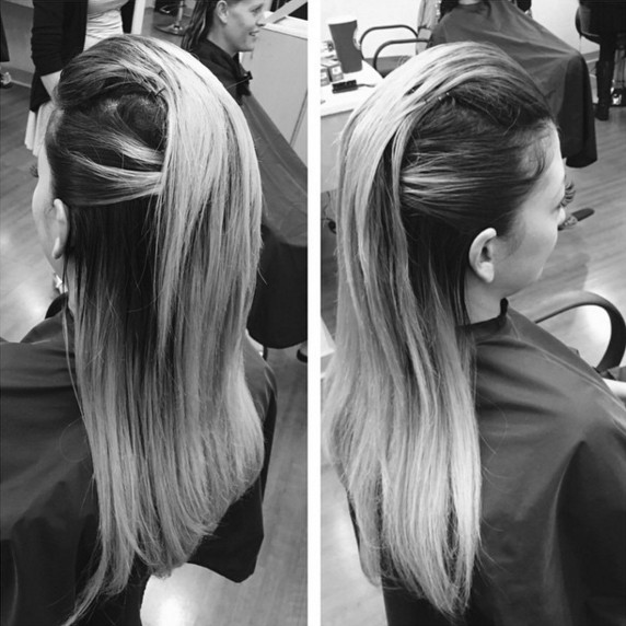 Half Up Half Down hairstyle for straight hair