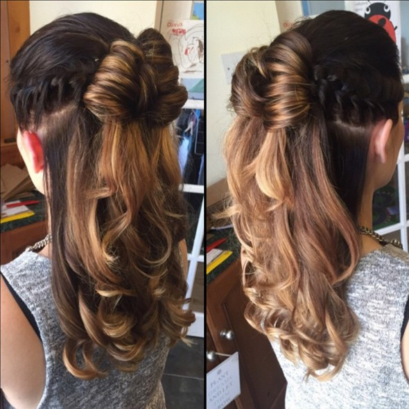 Fast half up half down hairstyle