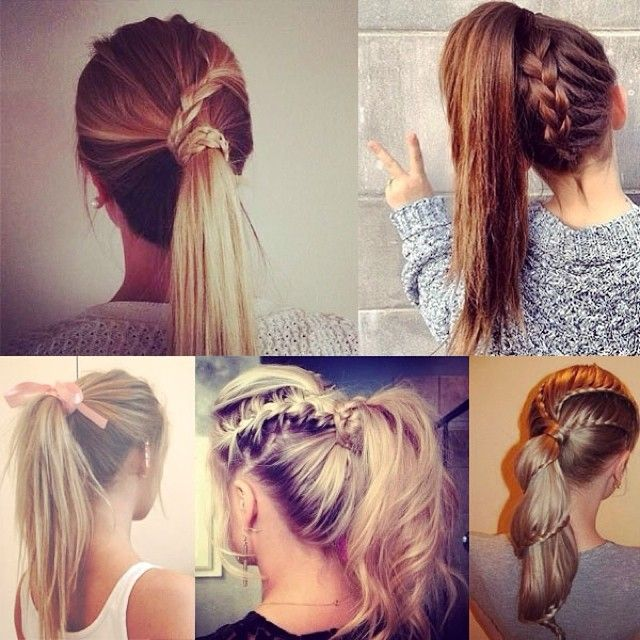 Braided ponytail hairstyles for long hair
