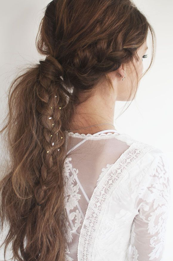 Braid ponytail for wedding hairstyles