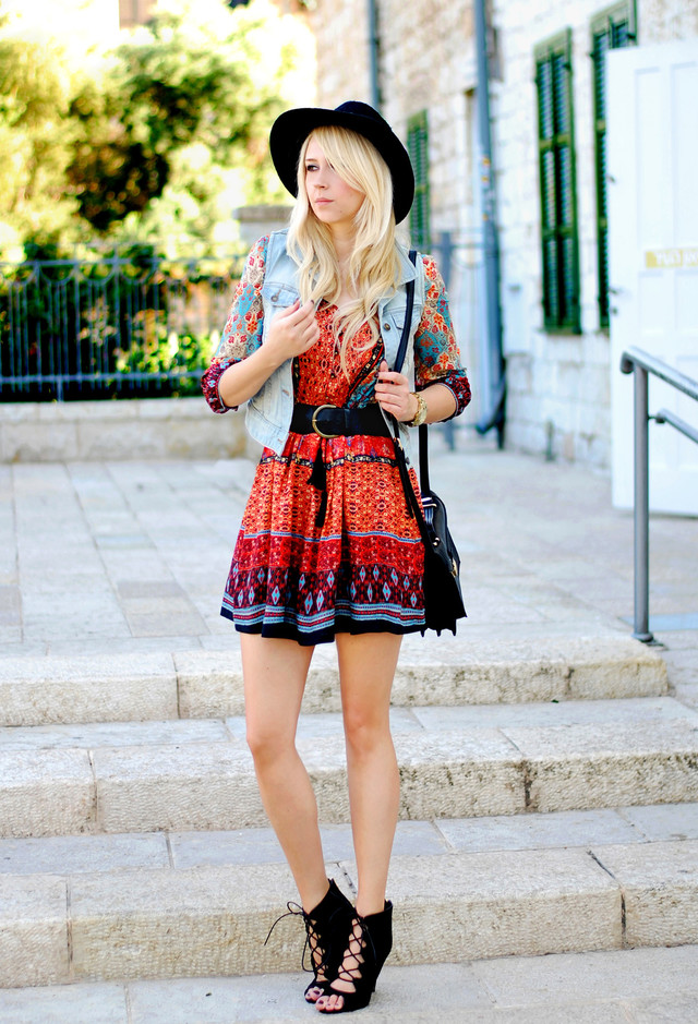 Boho chic fashion for spring